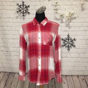 GARAGE Plaid Button Down, Flannel Shirt